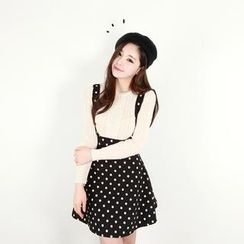 Cherryville - Polka-Dot Suspender Skirt