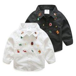 貝殼童裝 - 小童卡通長袖襯衫