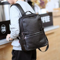 ETONWEAG - Woven Faux Leather Backpack