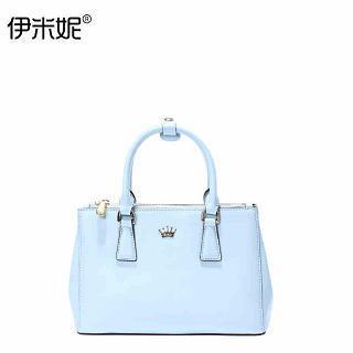 Emini House - Genuine-Leather Crown-Accent Handbag