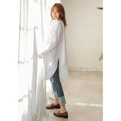 GOROKE - Round-Hem Cotton Shirtdress