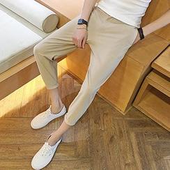 maxhomme - Plain Cropped Pants