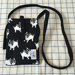 Shibu - Dog Printed Canvas Shoulder Pouch