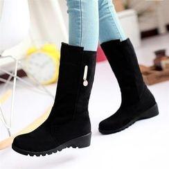 幸福鞋坊 - 仿麂皮短靴