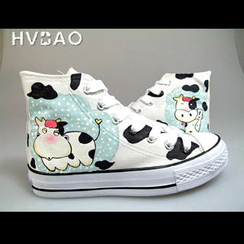 HVBAO - 'Cow' Canvas Sneakers