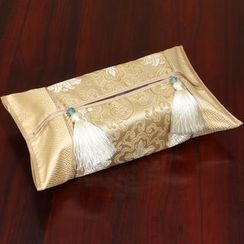 Sun East - Tasseled Patterned Tissue Box