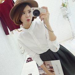 Rocho - Lace Trim Shirt