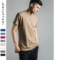 Newin - 竹節棉簡約T恤