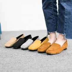VIVIER - Faux-Suede Square-Toe Loafers