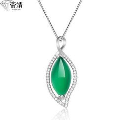 DIJING - Jade Sterling Silver Pendant Necklace