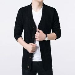 JEUX - Plain V-neck Cardigan