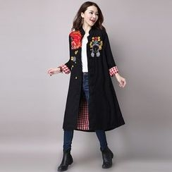 Epoch - Embroidered Frog Button Long Jacket