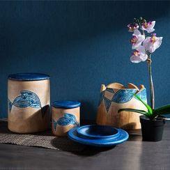 Home Simply - Printed Storage Jar