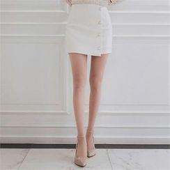 Babi n Pumkin - Flap-Front Button-Detail Mini Skirt