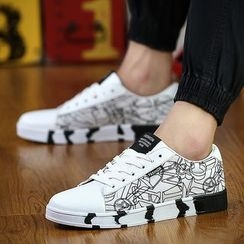 Muyu - Printed Lace Up Sneakers