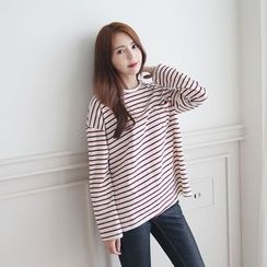 Envy Look - Long-Sleeve Striped T-Shirt