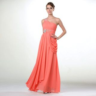 YesStyle Z - One-Shoulder Jeweled Evening Gown