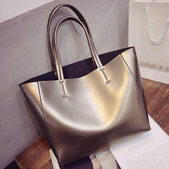 Velocia - Faux Leather Shopper Bag