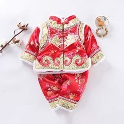 OnCloud - 童裝套裝: 刺繡中國傳統外套 + 褲