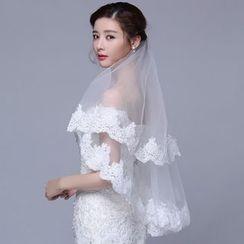 Suaylla - Lace Trim Wedding Veil