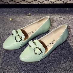 Hannah - 蝴蝶結細節隱藏船跟鞋