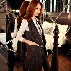Dabuwawa - One-Button Long Vest