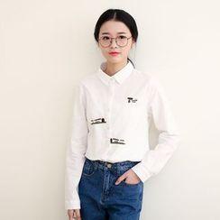 三木社 - 刺绣长袖衬衫