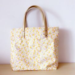 Ms Bean - Floral Print Canvas Shopper Bag