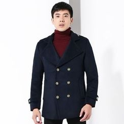 2RZ - Double-Breasted Wool-Blend Button Coat