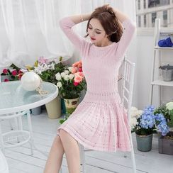 Effie - 3/4-Sleeve Knit Dress