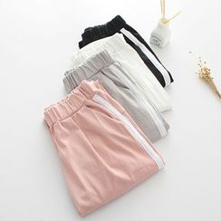 Lina Cota - Contrast Trim Baggy Pants