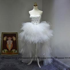 idresses - Strapless Sheer Wedding Gown