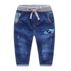 JAKids - 小童水洗抽绳腰牛仔裤