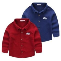 JAKids - Kids Elephant Embroidered Shirt