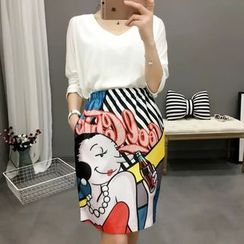 Ainvyi - Print Pencil Skirt