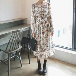mimi&didi - Floral-Patterned Chiffon Dress