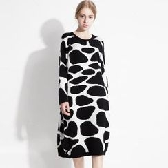 Halona - Printed Knit Dress