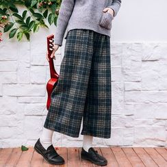 Rainie - Plaid Wide-Leg Pants