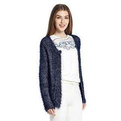 O.SA - Furry-Knit Cardigan