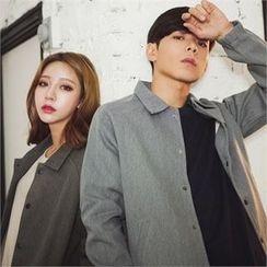 Superstar.i - Couple Raglan-Sleeve Snap-Button Jacket