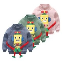 Seashells Kids - Kids Robot Embroidered Pullover