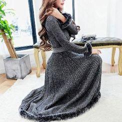 Yilda - Set: Knit Top + A-Line Skirt