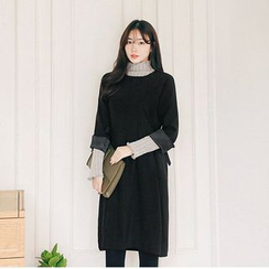 Seoul Fashion - Beribboned-Side Shift Dress