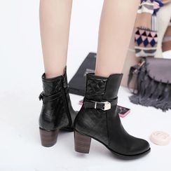 Pastel Pairs - Chunky Heel Short Boots