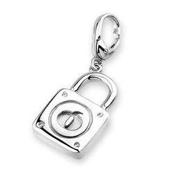 Bling Bling - Bling Bling Platinum Plated 925 Silver Lovely Lock Bracelet Charm