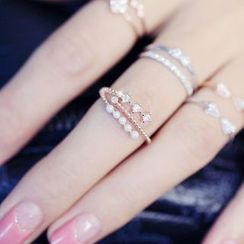 Diplet - 水鑽珠珠戒指