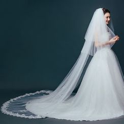 Sky n Sea - Sequined Wedding Veil