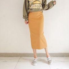 Seoul Fashion - Colored Long Knit Skirt