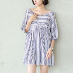 Sens Collection - Stripe Linen Cotton Dress