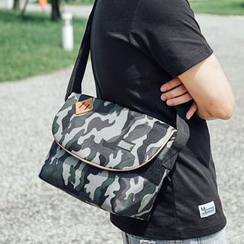 SeventyAge - Faux-Leather Camouflage Cross Bag